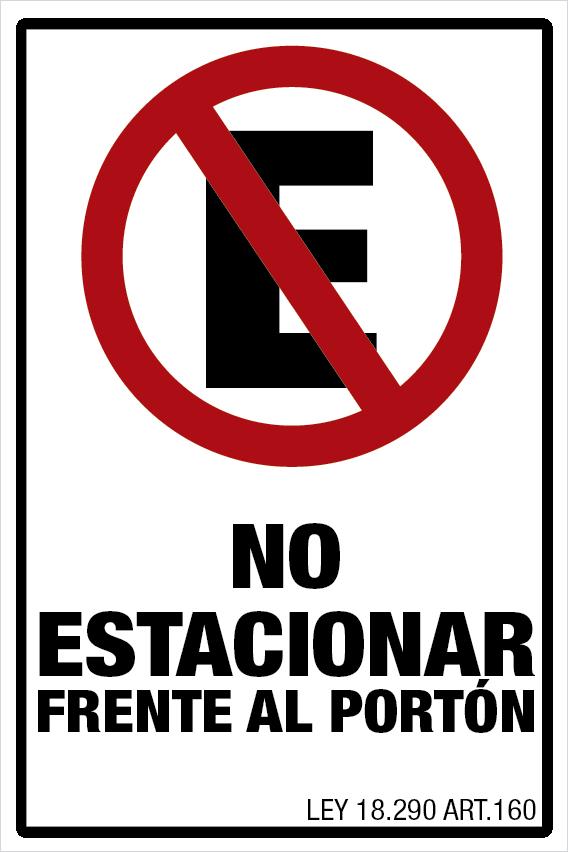 Señaletica no estacionar frente al porton, impreiones señalizaciones, extintor-03 impresiones señalización